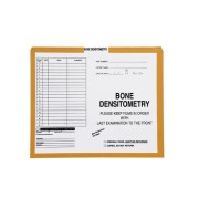 "S-82056 - Bone Densitometry, Yellow/Green #381 - Category Insert Jackets, System I, Open Top - 10-1/2"" x 12-1/2"" (Carton of 500)"