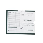 "S-83475 - C.T. (Cat Scan), Khaki #468 - Category Insert Jackets, System II, Open End - 10-1/2"" x 12-1/2"" (Carton of 500)"