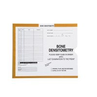 Bone Densitometry, Yellow/Green #381 - Category Insert Jackets, System I, Open End - 10-1/2&...