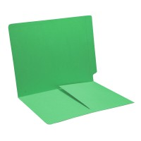 Green Folder with Half Pocket