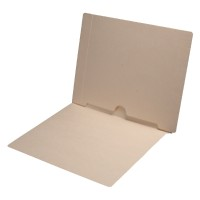 11 pt Manila Folders, Full Cut End Tab, Letter Size, Full Open Spine Back Pocket (Box of 50)
