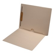 S-9015 - 11 pt Manila Folders, Full Cut End Tab, Letter Size, Full Open Bottom Back Pocket, Fastener Pos #1 (Box of 50)