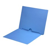 S-9017-BLU - 11 pt Blue Folders, Full Cut End Tab, Letter Size, Full Back Pocket (Box of 50)