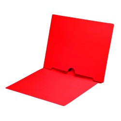 11 pt Red Folders, Full Cut End Tab, Letter Size, Full Back Pocket (Box of 50)