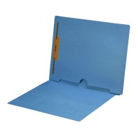 Blue Fastener Folder with Full Back Pocket