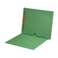 Green Fastener Folder with Full Back Pocket