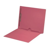 Pink Fastener Folder with Full Back Pocket