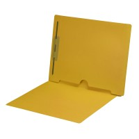 Yellow Fastener Folder with Full Back Pocket
