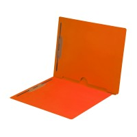 Orange Fastener Folder with Full Back Pocket