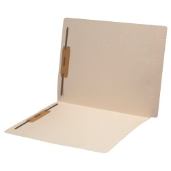 11 pt Manila Folders, Full Cut 2-Ply Super End Tab, Letter Size, Fastener Pos #1 & #3 (Box of 50)