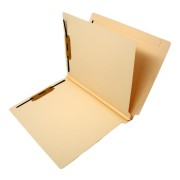 S-9032B - 14 Pt. Manila Classification Folders, Full Cut End Tab, Letter Size, 1 Divider (Case of 125)
