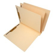 S-9033B - 14 Pt. Manila Classification Folders, Full Cut End Tab, Letter Size, 2 Divider (Case of 75)