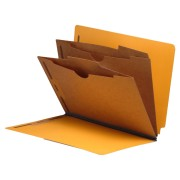 S-9041 - Type I Pressboard Classification Folders, Full Cut End Tab, Letter Size, 2 Pocket Dividers (Box of 10)