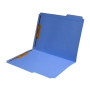 S-9042-BLU - 11 pt Blue Folders, 1/3 Cut Reinforced Top Tab - Assorted, Letter Size, Fastener Pos #1 and #3 (Box of 50)