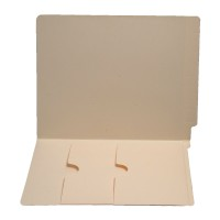 11 pt Manila Folders, Full Cut End Tab, Letter Size, Double Pockets Inside Front (Box of 50)