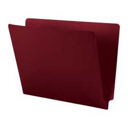 11 pt Cheshire Linen Color Folders, Full Cut 2-Ply End Tab, Letter Size, Burgundy (Box of 50)