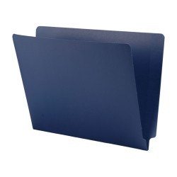 11 pt Cheshire Linen Color Folders, Full Cut 2-Ply End Tab, Letter Size, Navy Blue (Box of 50)