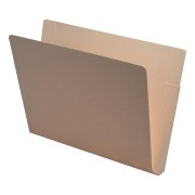 S-9071 - 11 pt Manila Folders, Full Cut End Tab, Letter Size, Double Pockets Outside Back (Box of 50)