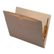 S-9072 - 11 pt Manila Folders, Full Cut End Tab, Letter Size, Double Pockets Outside Back, Fasteners Pos #1 & #3 (Box of 50)