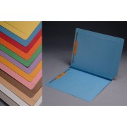 S-9078 - 14 pt Color Folders, Full Cut 2-Ply End Tab, Letter Size, Fastener Pos #1 & #3, 1-1/2