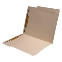"11 pt Manila Folders, 8"" Reinforced Top Tab, Letter Size, Fastener Pos #1 and #3 (Box of 50)"