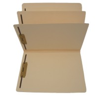 14 Pt. Manila Classification Folders, Full Cut Top Tab, Letter Size, 2 Divider (Box of 15)