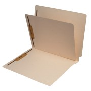 S-9141 - 11 Pt. Manila Folders, Full Cut End Tab, Letter Size, 1 Divider Installed (Box of 40)