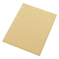 Chart Divider Sheets for Stick-On Tabs, Letter Size, Manila with 1/2 Pocket (Box of 50)