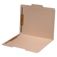 14 pt Manila Folders, 1/3 Cut Top Tab - Assorted, Letter Size, Fasteners Pos #1 and #3 (Box ...