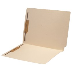 11 pt Manila Folders, Full Cut 2-Ply End Tab, Letter Size, Drop Front, Fastener Pos #1 & #3 (Box of 50)