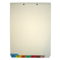 Stock Medical Chart Dividers, 8 Bottom Tabs