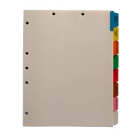 Stock Medical Chart Dividers, 8 Side Tabs