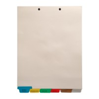 Stock Medical Chart Dividers, 6 Bottom Tabs
