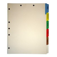 Stock Medical Chart Dividers, 6 Side Tabs