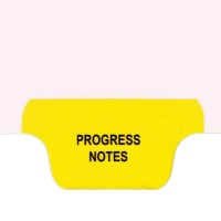 Individual Chart Divider Tabs, Progress Notes (Yellow)
