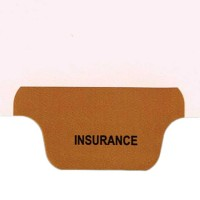 Individual Chart Divider Tabs, Insurance (Brown)