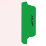 S-9210-6T-3 - Individual Stock Chart Divider Tabs, Lab/X-Ray, Green, Side Tab, 1/6th Cut, Pos. #3 (Pack of 25)