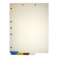 Stock Medical Chart Dividers, 4 Bottom Tabs