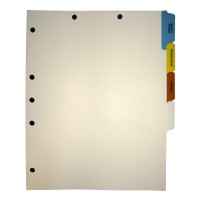 Stock Medical Chart Dividers, 4 Side Tabs