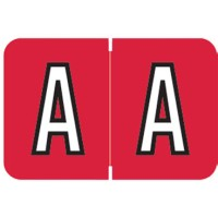 "Barkley ABKM Compatible Alpha Labels, Letter ""A"", Laminated Stock, 1"" X 1-1/2"" Individual Le..."