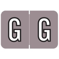 "Barkley ABKM Compatible Alpha Labels, Letter ""G"", Laminated Stock, 1"" X 1-1/2"" Individual Le..."