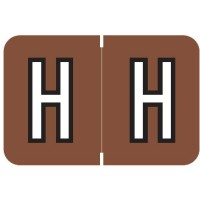 "Barkley ABKM Compatible Alpha Labels, Letter ""H"", Laminated Stock, 1"" X 1-1/2"" Individual Le..."