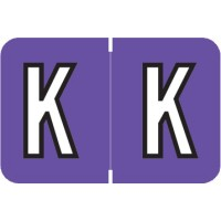 "Barkley ABKM Compatible Alpha Labels, Letter ""K"", Laminated Stock, 1"" X 1-1/2"" Individual Le..."