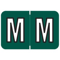 "Barkley ABKM Compatible Alpha Labels, Letter ""M"", Laminated Stock, 1"" X 1-1/2"" Individual Le..."