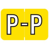 "Barkley ABKM Compatible Alpha Labels, Letter ""P"", Laminated Stock, 1"" X 1-1/2"" Individual Le..."