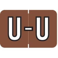 "Barkley ABKM Compatible Alpha Labels, Letter ""U"", Laminated Stock, 1"" X 1-1/2"" Individual Le..."