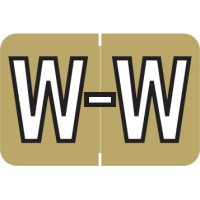 "Barkley ABKM Compatible Alpha Labels, Letter ""W"", Laminated Stock, 1"" X 1-1/2"" Individual Le..."
