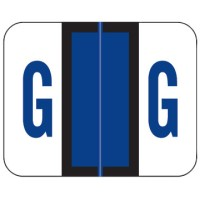 "Tab / Smead BCCR Compatible Alpha Labels, Letter ""AG"", Laminated Stock, 1"" X 1.25"" Individua..."