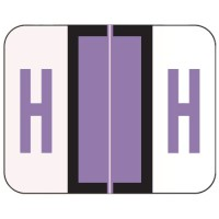 "Tab / Smead BCCR Compatible Alpha Labels, Letter ""H"", Laminated Stock, 1"" X 1.25"" Individual..."