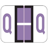"Tab / Smead BCCR Compatible Alpha Labels, Letter ""Q"", Laminated Stock, 1"" X 1.25"" Individual..."